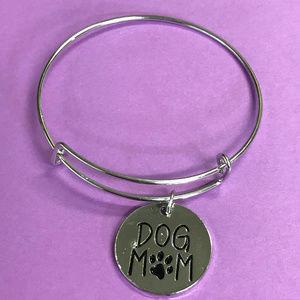Jewelry - Dog Mom Silver Tone Bangle Bracelet